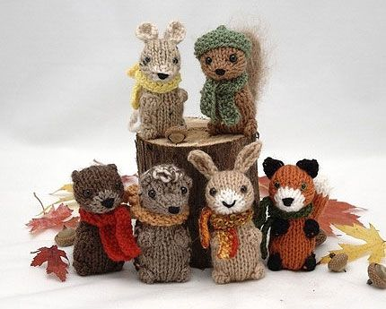 Wee Woodland Wuzzies Knitting Pattern PDF
