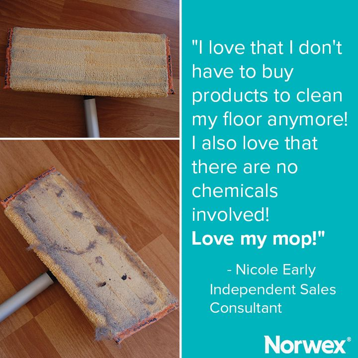 Norwex Mop Systems clean floors quickly and easily using only Norwex Microfiber and water & floors dry super fast!
