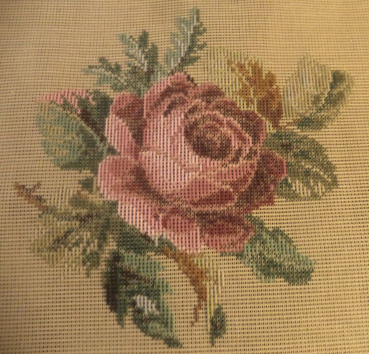 RARE Needlepoint Tapestry Trammed Rug Canvas English Rose Ivo Tapestry   eBay