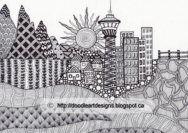 Zentangled Landscape