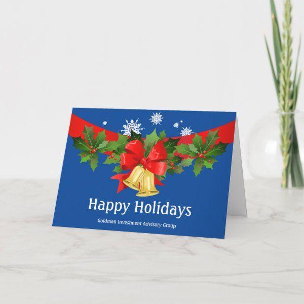 Business Christmas Holiday Company Template Logo Custom Holiday Card Family Holiday Photo Cards Business Christmas