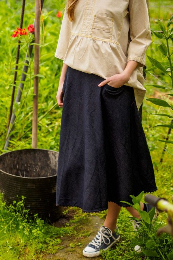 Issue #2 - D-due LAB: Yellow Mountain | Midi denim skirt. #dduelab #skirt #denim #midi