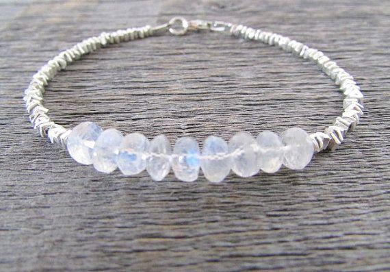 moonstone bracelet moonstone & hill tribe silver by earthwatersol