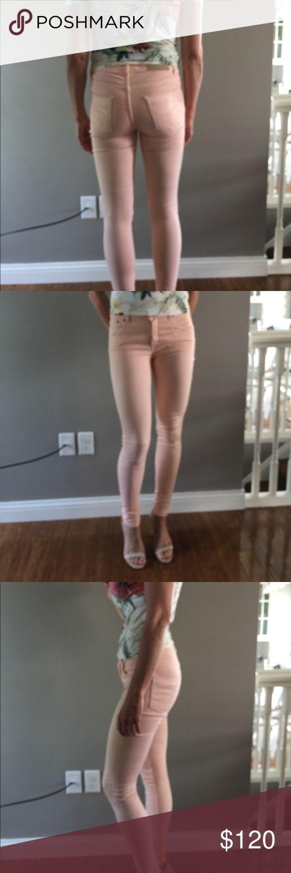 Victoria Beckham sun bleached peach jeans Skinny jeans Victoria Beckham Jeans Skinny
