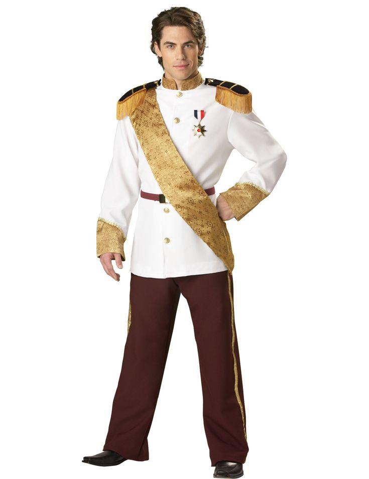 Hochwertiges Männerkostüm im stil eines französischen Prinzen mit goldener Schärpe und vielen eleganten Details.