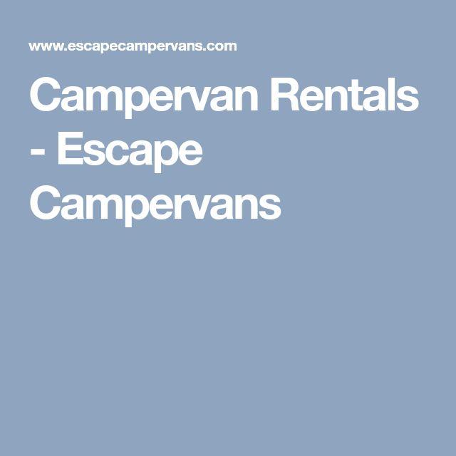 Campervan Rentals - Escape Campervans