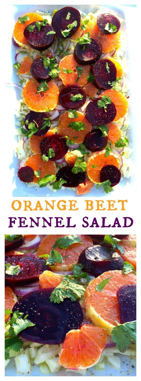 Orange Beet Fennel Salad