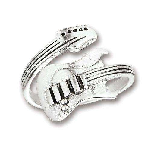 f96e2e944 Sterling silver electric guitar spoon ring #sterlingsilver #electricguitar # guitar #music #rockandroll #rings #jewelry