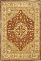 The Heritage collection features patterns and colors that complement a rich and luscious decor. Hand tufted of 100% pure wool in India with a strong cotton backing, these rugs add warmth and comfort to any room and withstand even the most highly traveled areas of your home.