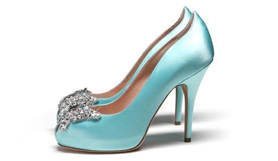 Blue wedding shoes. wedding