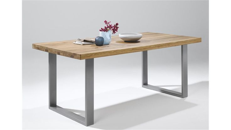 Esstisch 2559 Tisch in Eiche natur massiv geölt 180x100