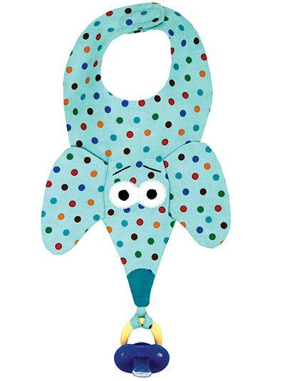Cómo hacer un babero con amarre para chupete (Manualidades, costura) /Binkie Bibs! Sewing Pattern (handmade crafts, DIY) Mediterranean Natural