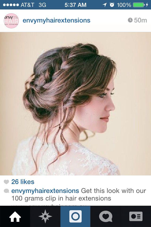 Whimsical Braid Vintage Wedding Hair