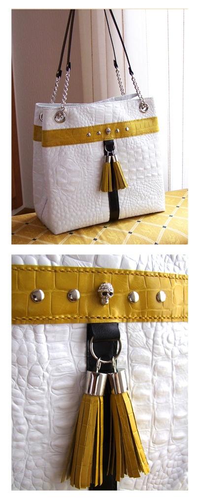 Bolso de cuero hecho a mano. Handcrafted leather bag