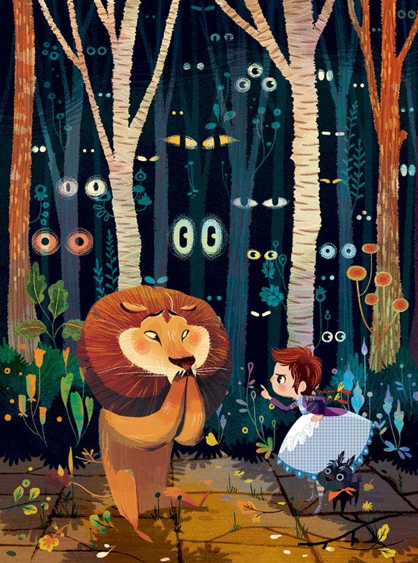 The Wonderful WIzard of Oz illustrations by Lorena Alvarez Gómez
