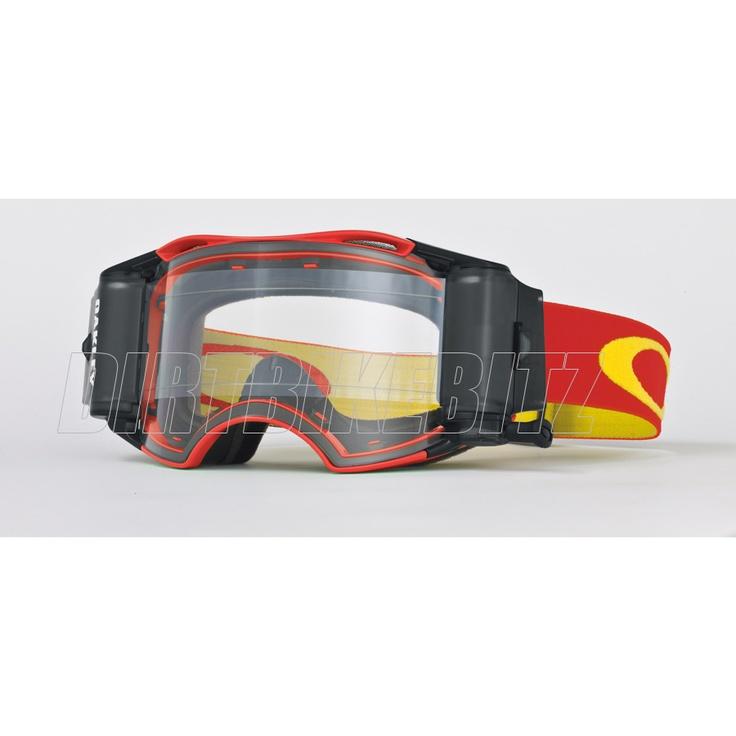 2013 Oakley Airbrake Mx Goggles - Red Retro Speed Airbrake Roll-off Goggle - 2013 Oakley Airbrake Mx Goggles - 2013 Motocross