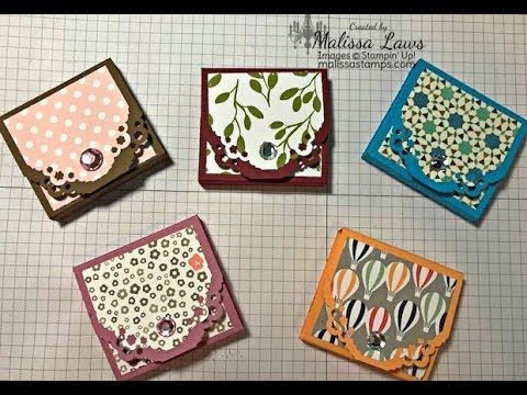 Mini Square Post It Note Book Stampin Up - YouTube