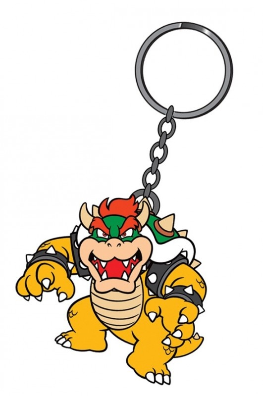 Nintendo Bowser Rubber Keychain | Keychains | The A Factor Shop