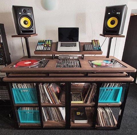17 best images about dj studio setups on pinterest furniture ricky jay and vinyl record storage. Black Bedroom Furniture Sets. Home Design Ideas