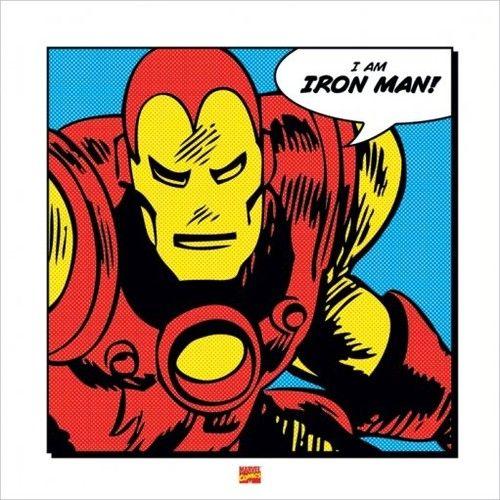 Superhero Art- Iron Man