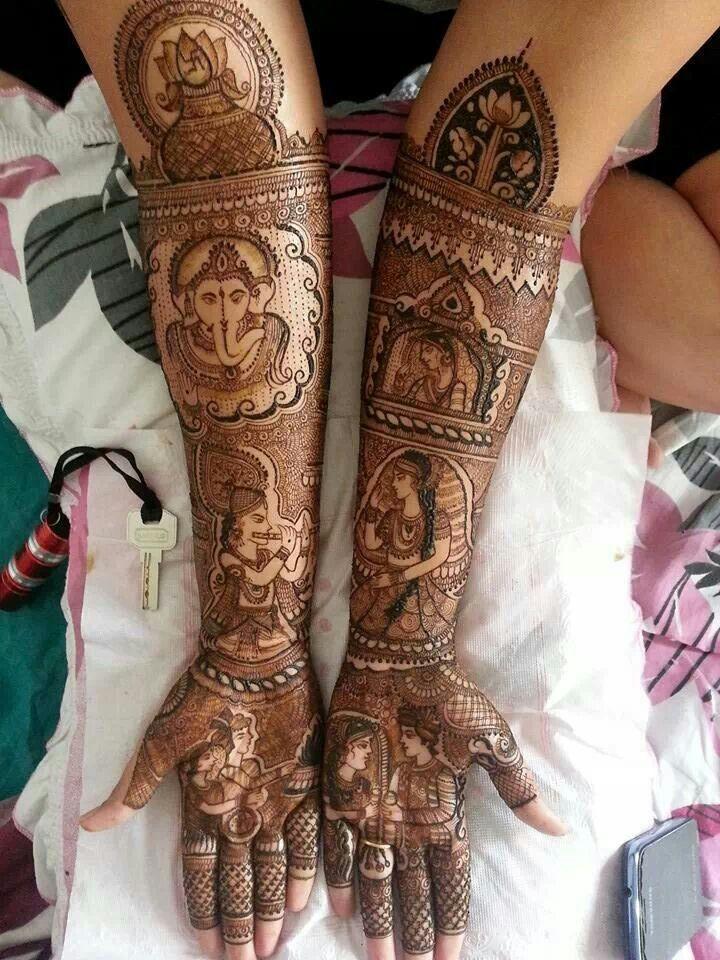 Besutiful bridal mehandi