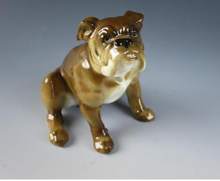 vintage hutschenreuther english bulldog german signed karl tutter dog figurine ebay. Black Bedroom Furniture Sets. Home Design Ideas