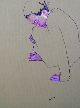 "Saatchi Online Artist Cristina Troufa; Painting, """"A paixão tem um fado #1"" (passion has a destiny) SOLD"" #art"