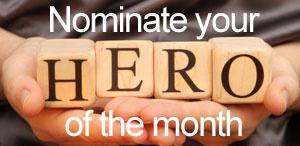 Nominate your Rachel's Challenge Hero of the Month...Would like to get this going school wide. Nominate one hero of the month and announce during announcements.