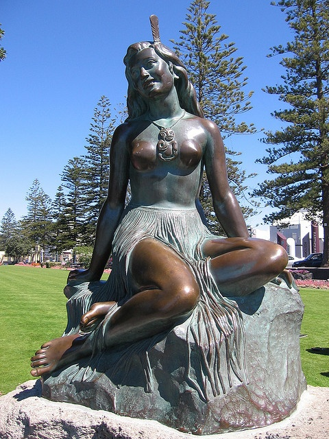 #GreatFoodRace Statue of Pania Of The Reef, Napier, New Zealand