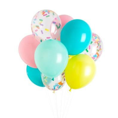 """Fun and fancy celebrations can still be easy when the colors are already chosen for you! This ice cream classic balloon pack is perfectly coordinated and ready to party! - Includes 12 balloons - 11"""" l"""