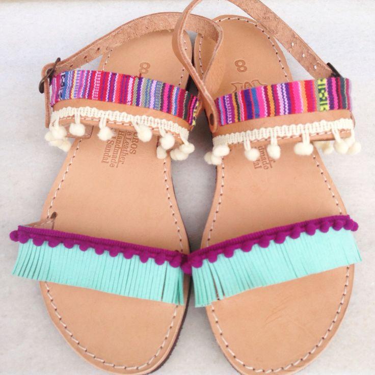 Handmade bohemian sandals