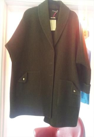 'army' green oversized coat £35