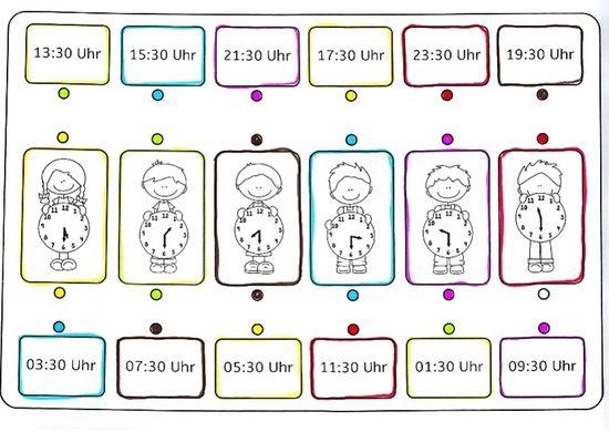 Arbeitsblatt Uhrzeit Kostenlos : Besten schule mathe bilder auf pinterest vorschule
