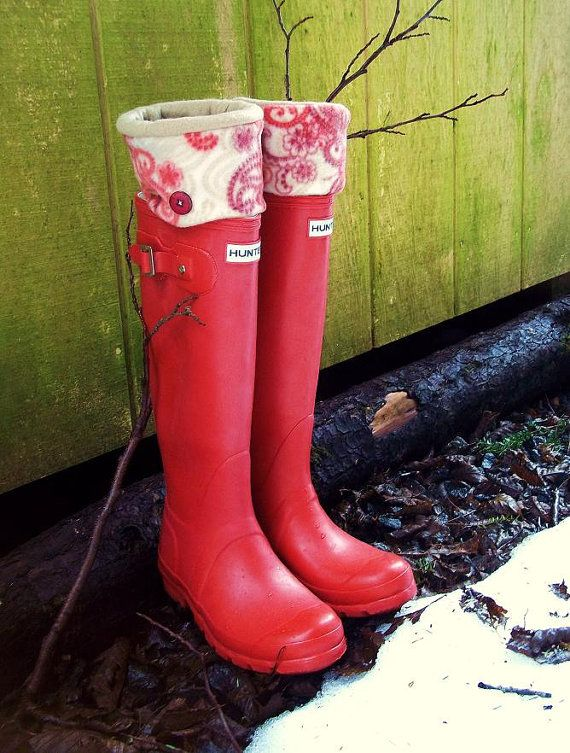 SLUGS Hunter boot Fleece Rain Boot liners by WithTheRain on Etsy, $22.00: