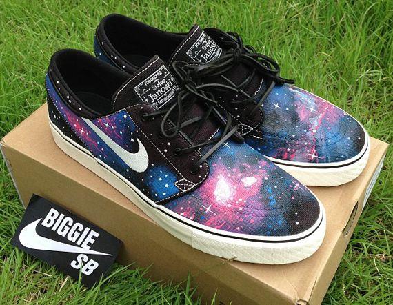"86d92c05a0e7 ... Nike SB Stefan Janoski ""Galaxy"" Customs by biggie sb"