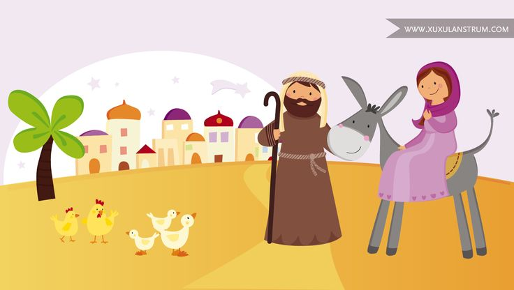 """San José y la virgen María buscan morada en el libro de """"Viu el Nadal"""" de Estrella Polar."""