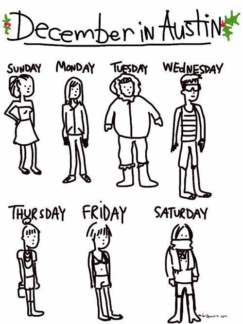 December in TEXAS~Don't think I've ever seen something so accurate.