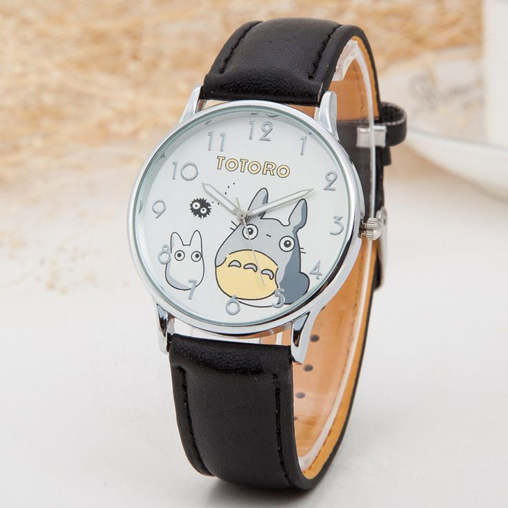 Totoro Leather Strap Quartz Watch //Price: $13.48 & FREE Shipping //     #totorostuff