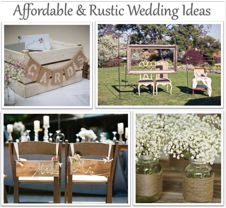 All women have dreamt of their perfect fairy-tale wedding since childhood whether it be a big glamorous, red carpet event or a rustic, more laid back day with homemade jam jar flower arrangementsand fairy lights lighting up a walkway. If you have a limited budget here are some affordable and rustic wedding ideas that we love and think may help when planning your perfect wedding; Jars Jam jars have a great effect if you're going for the ideal countryside wedding. All you need is an empty…