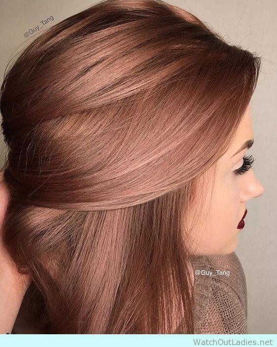 Rose Gold short hair for this season
