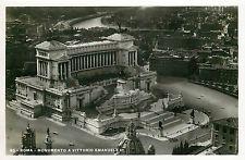 Italy 1930s Real Photo Postcard Roma Rome - Monumento a Vittorio Emanuele II