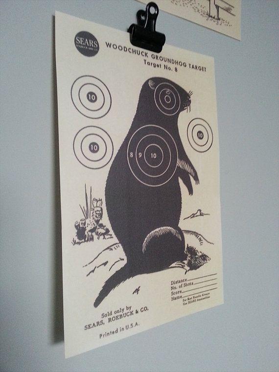 1950's Groundhog/ Beaver Target  Vintage Sears by PunchJunk, £7.00