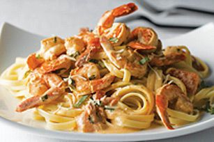 Pâtes aux crevettes faciles pour deux