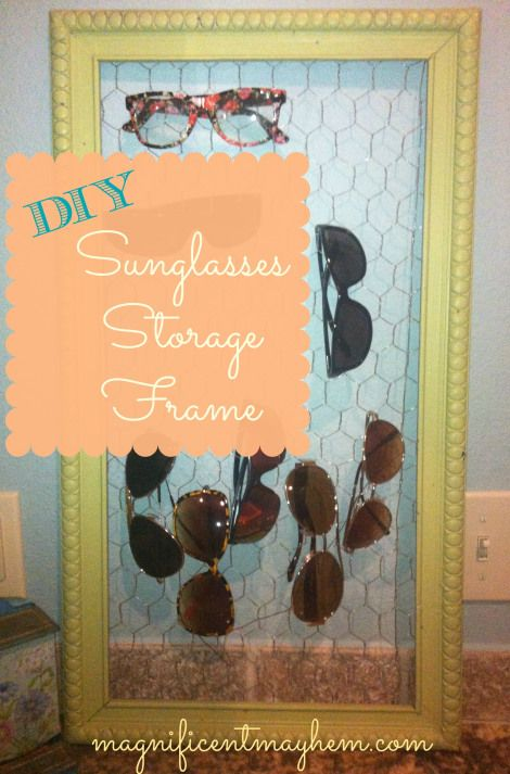 sunglasses storage frame
