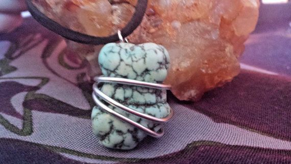 Turquoise NecklaceCLEANSED AND BLESSED by PranicTreasure on Etsy