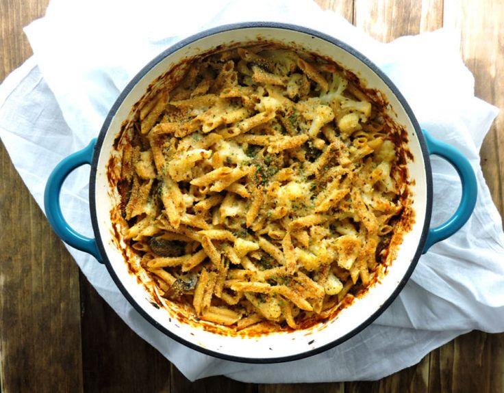 Cauliflower Mushroom Mac and Cheese