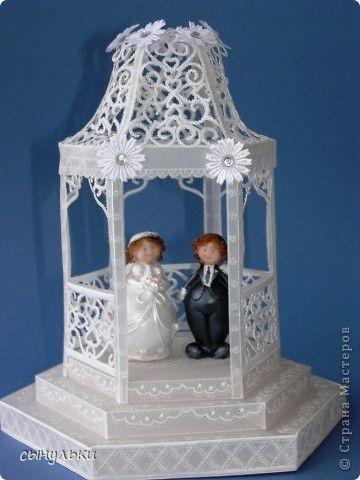 Поделка изделие Свадьба Пергамано свадебная беседка Бумага фото 1
