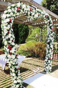 Floral Arch in the Sunken Garden Location: Morning Star Estate