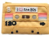 Wow!  This pouch is awesome.: Pur Women, Cassette Tape, Tape Coins, Coins Purses, 80S And Felt, Editing Mixtape, Clutches Cassette, Mixed Tape, Mixtape Pouch