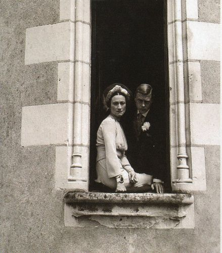"King Edward VIII ""David"" (Edward Albert Christian George Andrew Patrick David) (1894-1972) Prince of Wales UK & wife Wallis Simpson (Bessie Wallis Warfield-Spencer-Simpson) (1896-1986) USA, Duke & Duchess of Windsor on their wedding day, 1937"